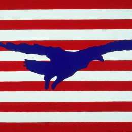 "George Mullen, Sept 11 Art / 911 Art: Freedom Takes Flight, 2001, 24"" x 36"", oil on canvas. Copyright © 2001 George Mullen. All Rights Reserved."